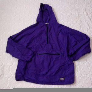Vtg 90s LL Bean L Purple Windbreaker Pull Over GUC